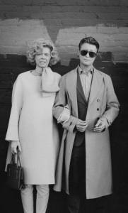 [image: Black and white image of Tilda Swinton dressed as David Bowie and David Bowie dressed as Tilda Swinton]